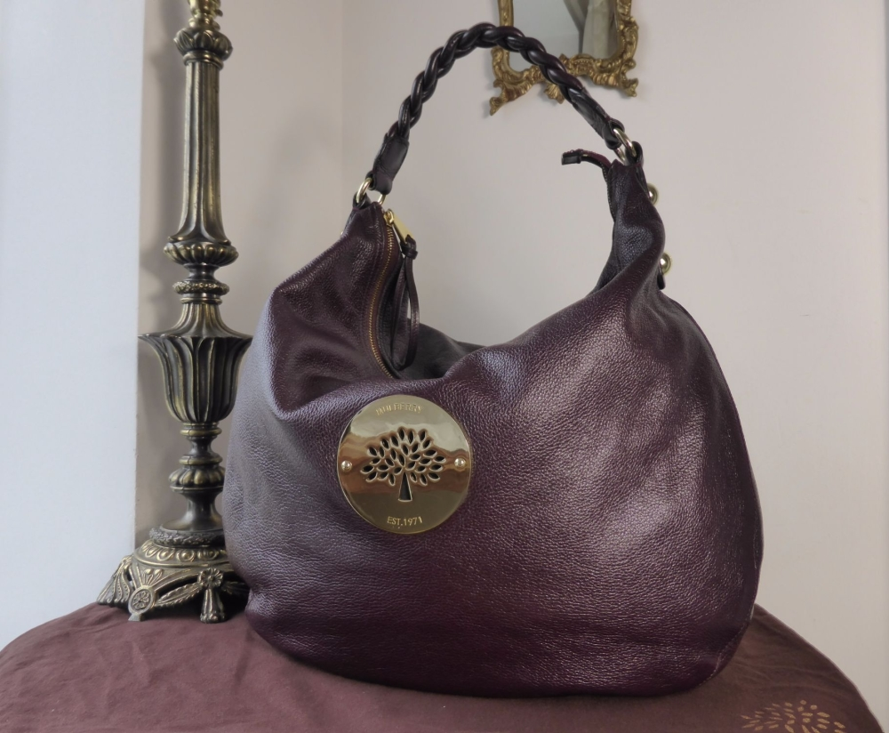 Mulberry Large Daria Hobo in Oxblood Soft Spongy Leather