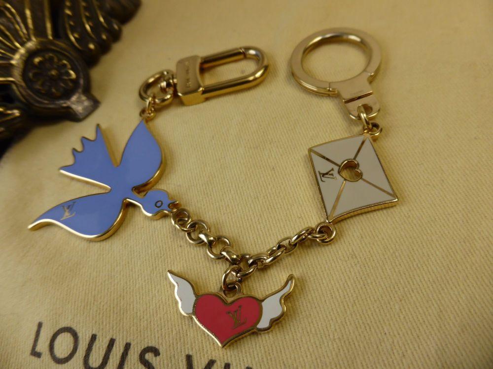 Louis Vuitton Love Birds Bag Charm Key Chain and Key Holder