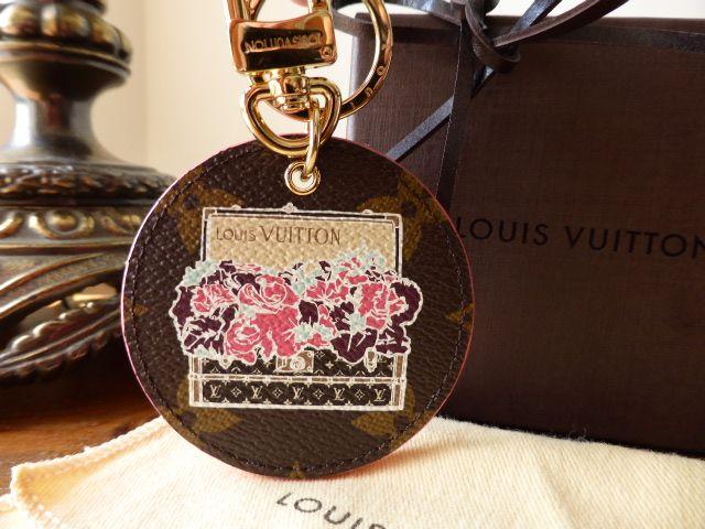 Louis Vuitton Illustré Posies Bag Charm Key Chain
