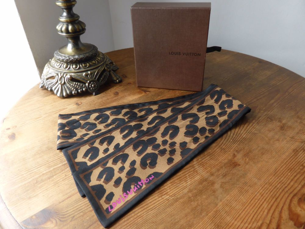 Louis Vuitton Bandeau in Marron Leopard Stephen Sprouse