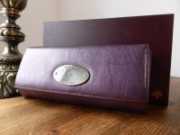 Mulberry Plaque Continental Purse in Metallic Rouge Noir Goatskin