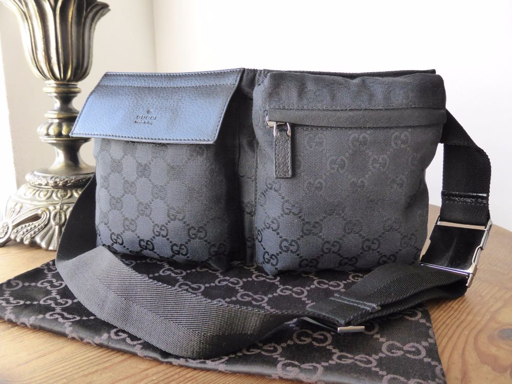 Gucci Belt Bag in Black GG Monogram Canvas