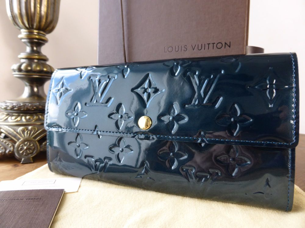 Louis Vuitton Sarah Purse in Bleu Nuit Monogram Vernis