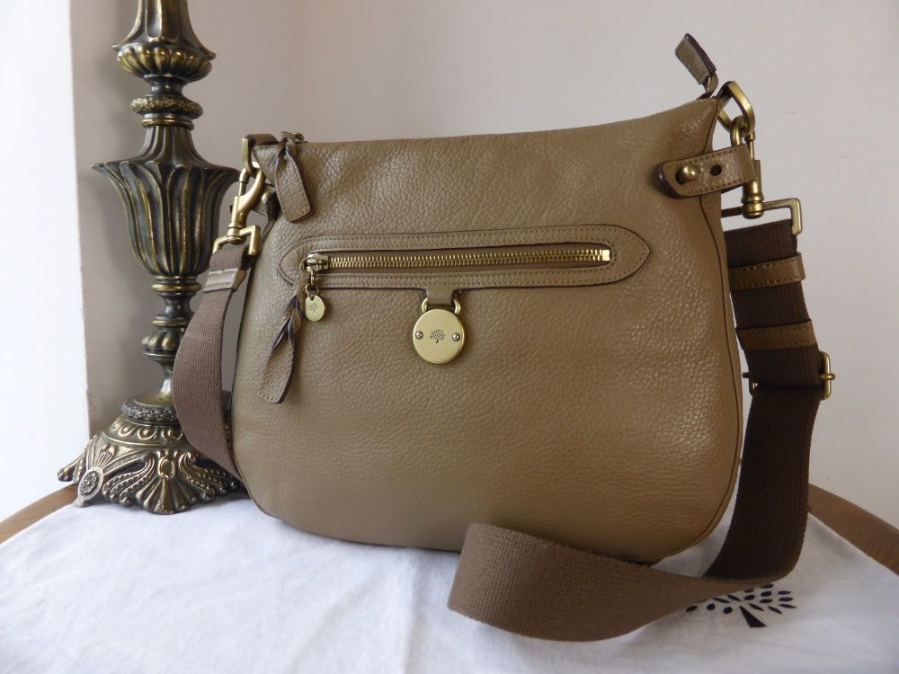 Mulberry Somerset Hobo in Khaki Spongy Pebbled Leather