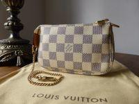 Louis Vuitton Mini Pochette Accessoires in Damier Azur