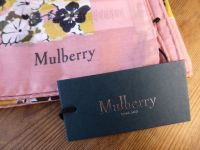 Mulberry Flower Print Scarf in Multicolour Macaroon Pink - New