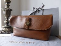 Mulberry Tessie Clutch in Oak Small Soft Grain Leather - New
