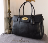 Mulberry Classic Bayswater in Black Natural Leather