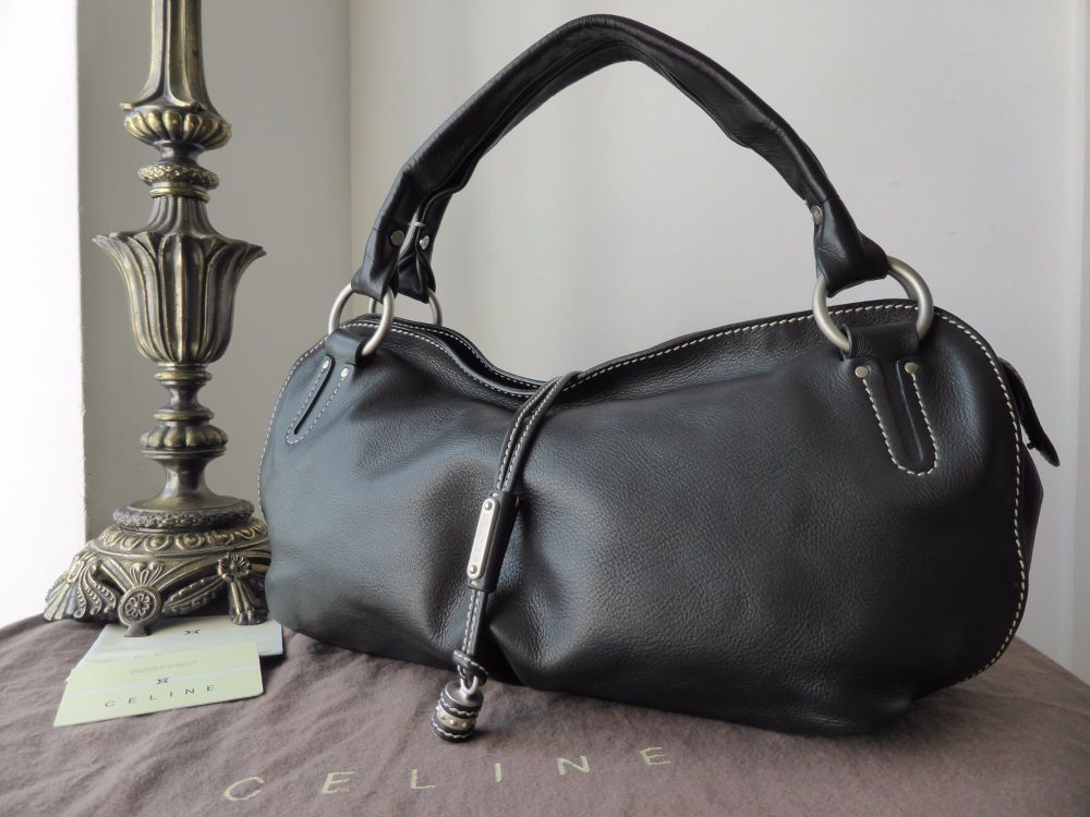 Celine Bittersweet Shoulder Bag in Black Calfskin