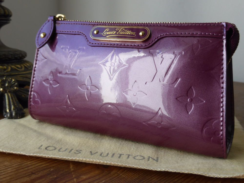 Louis Vuitton Zipped Cosmetic Pouch Trousse in Violette Vernis
