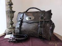 Mulberry Regular Alexa Satchel in Black Mini Leopard Patent