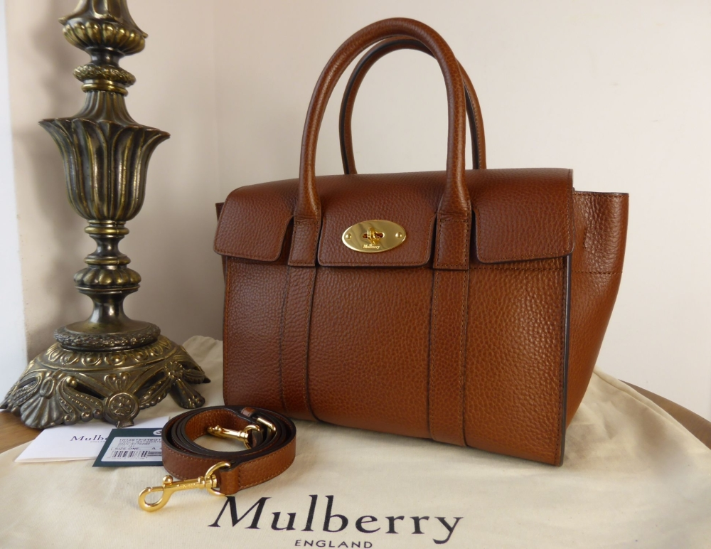 Mulberry Small New Bayswater in Oak Natural Grainy Leather - As New