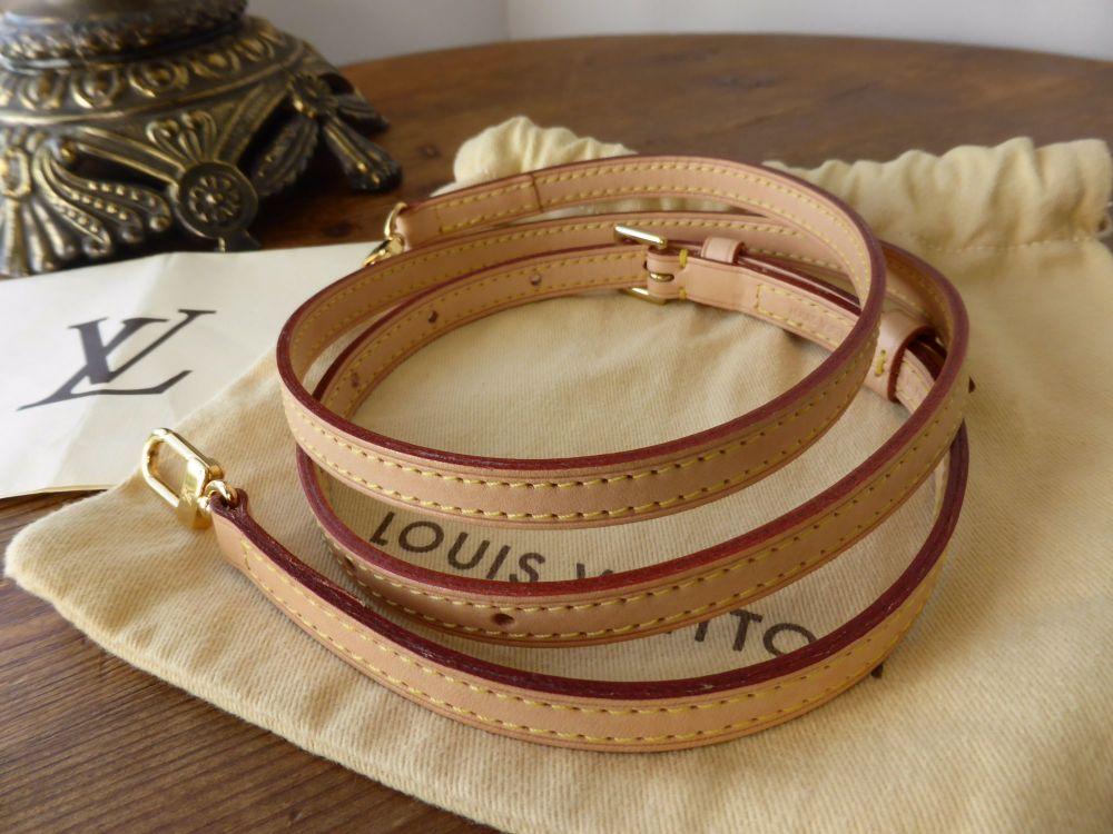Louis Vuitton Adjustable Shoulder Strap 12mm in Vachette with Golden Brass