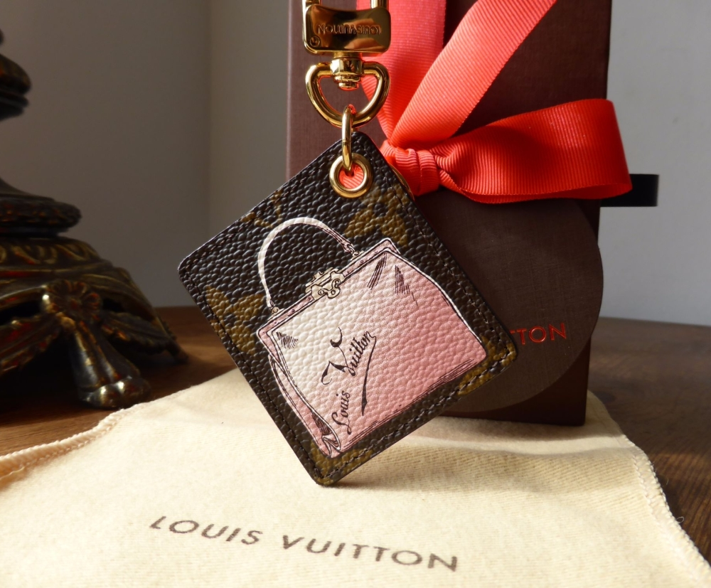 Louis Vuitton Illustré Keyring Bag Charm VIP Handbag on Monogram