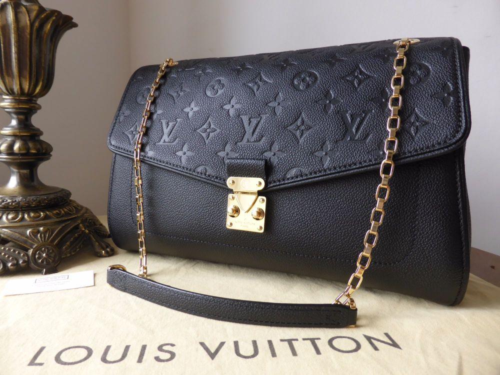 Louis Vuitton St Germain MM in Noir Empreinte