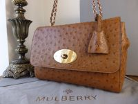 Mulberry Medium Lily in Oak Ostrich Leather