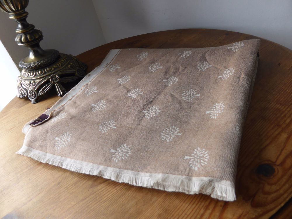 Mulberry Tamara Scarf in Oak Silk and Cotton Mix - As New