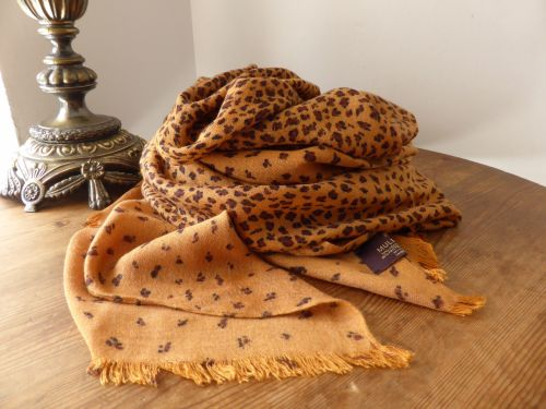 Mulberry Large Wrap In Fudge Degrade Leopard Print Sold