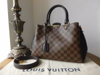 Louis Vuitton Brittany in Damier Ebene and Noir Cuir Taurillon - As New*
