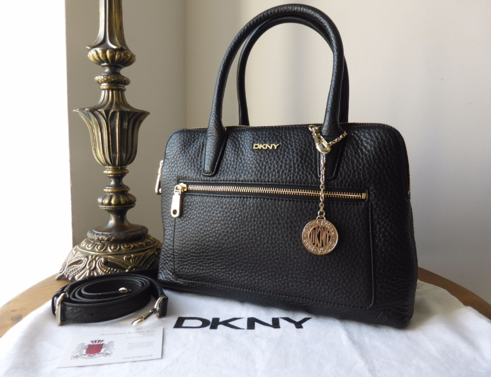 DKNY Tribeca in Black Soft Tumbled Leather - New