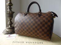 Louis Vuitton Speedy 30 Damier Ebene Hotstamped 'A.D'