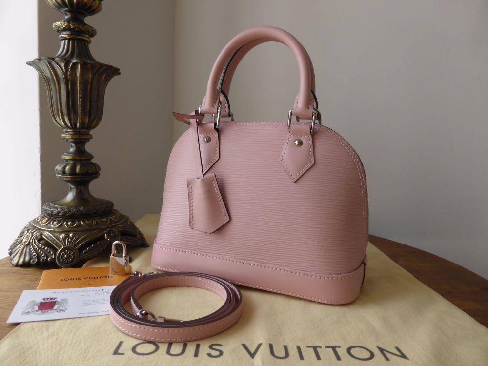 Louis Vuitton Alma BB in Rose Ballerine Epi Leather - As New*