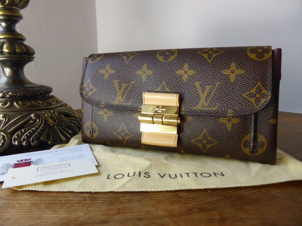 Louis Vuitton Elysée Purse in Monogram & Bordeaux