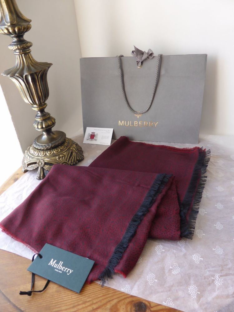 Mulberry Tamara Scarf in Oxblood Superfine Cotton - New*