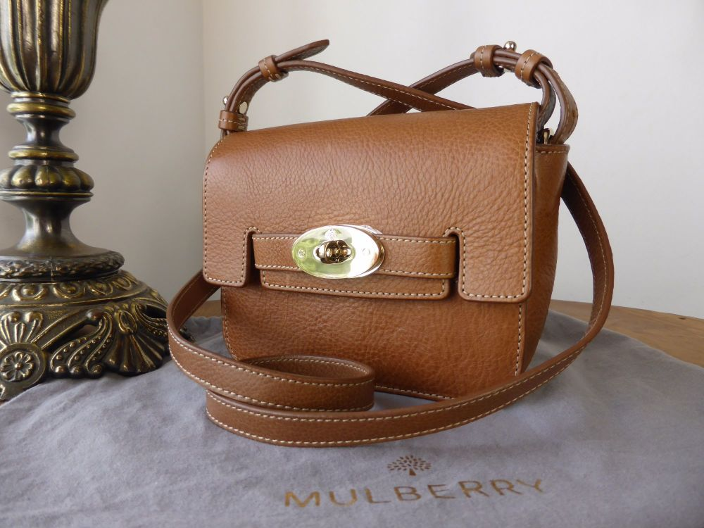Mulberry Small Shoulder Bayswater in Oak Natural Leather