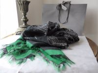 Mulberry Fox Printed Stole Wrap in Emerald from the Georgia May Jagger Biker Collection