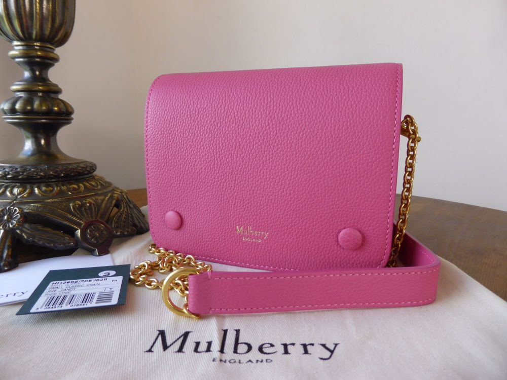 Mulberry Small Clifton in Candy Pink Small Classic Grain - As New