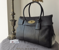 Mulberry Classic Bayswater in Black Natural Leather - New