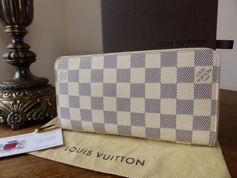 Louis Vuitton Large Zippy Continental Wallet in Damier Azur