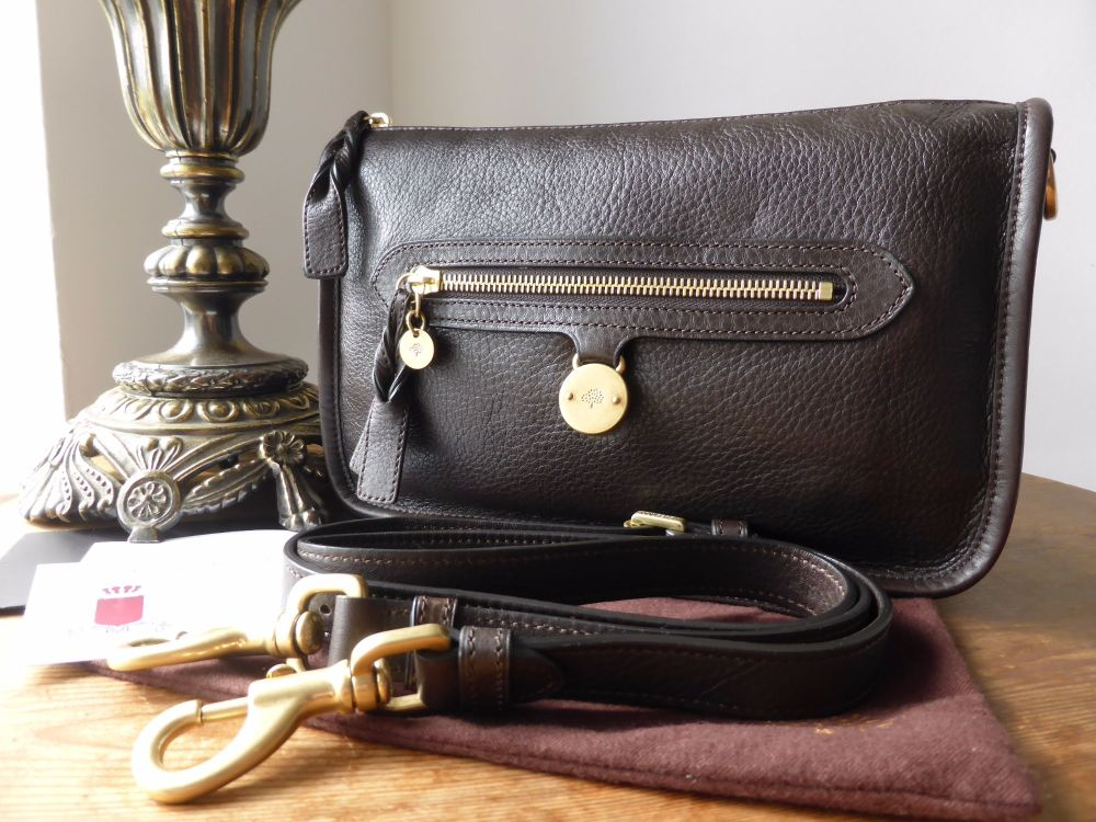 Mulberry Small Somerset Satchelin Chocolate Pebbled Leather