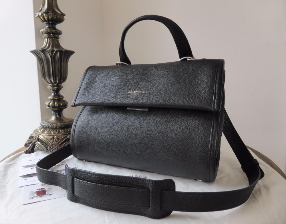 Balenciaga Tools Medium Satchel in Black Grainy Calfksin - New