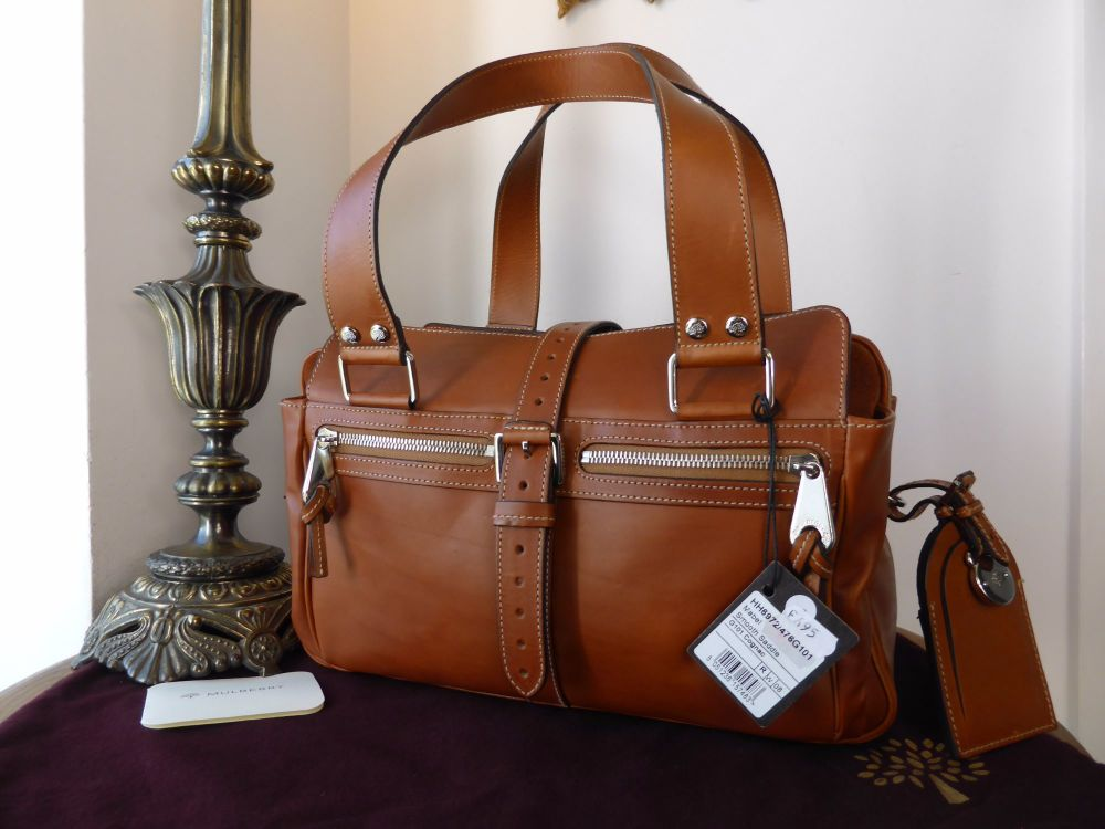 Mulberry Medium Mabel in Cognac Smooth Saddle Leather - New*