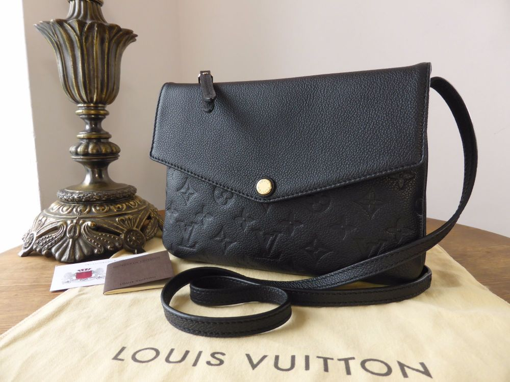 Louis Vuitton Twice Shoulder Pochette in Empreinte Noir