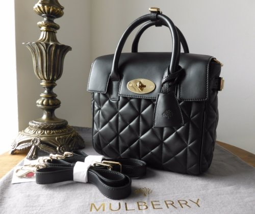 Mulberry Mini Cara Delevingne Bag in Black Quilted Lamb Nappa - New 169f10a2f9