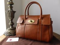 Mulberry Vintage Ledbury in Oak Natural Leather with Brass Hardware