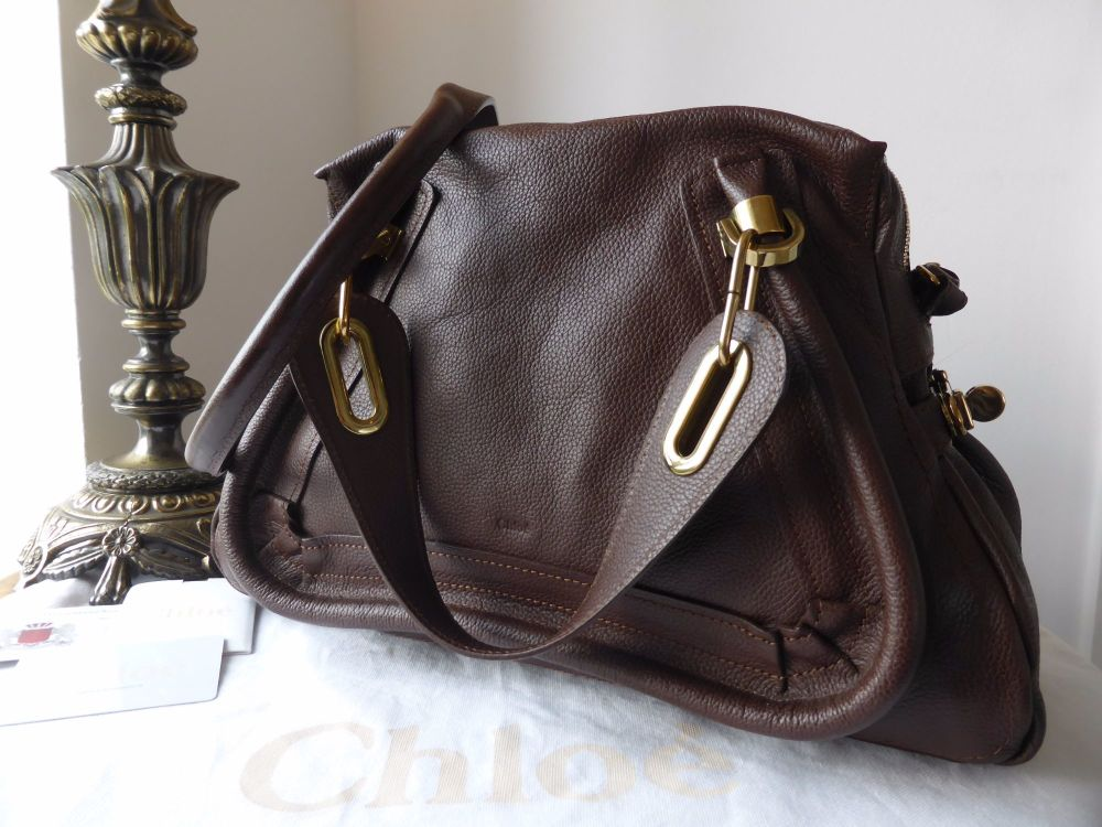 Chloé Paraty Medium in Dark Chocolate Calfksin