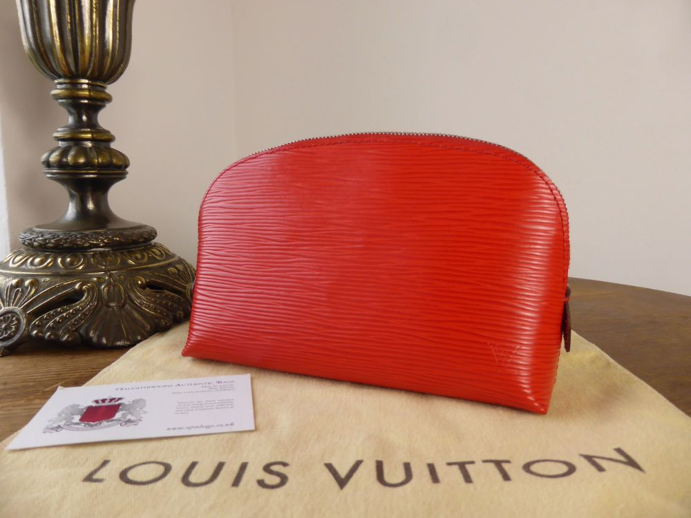 Louis Vuitton Cosmetic Zip Pouch in Coquelicot Epi