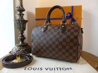 Louis Vuitton Speedy Bandouliere 25 in Damier Ebene