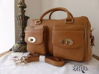 Mulberry Double Pocket Boston in Deer Brown Buffalo Shine - New*