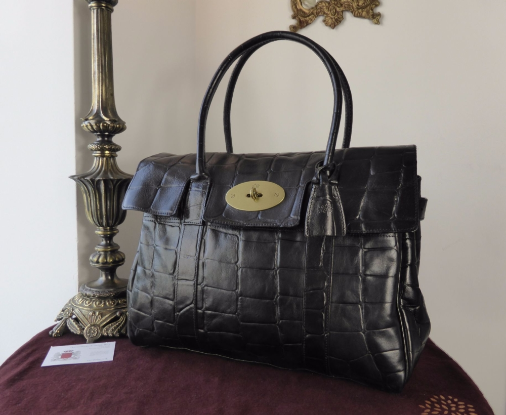 Mulberry Vintage Classic Bayswater in Black Congo Leather