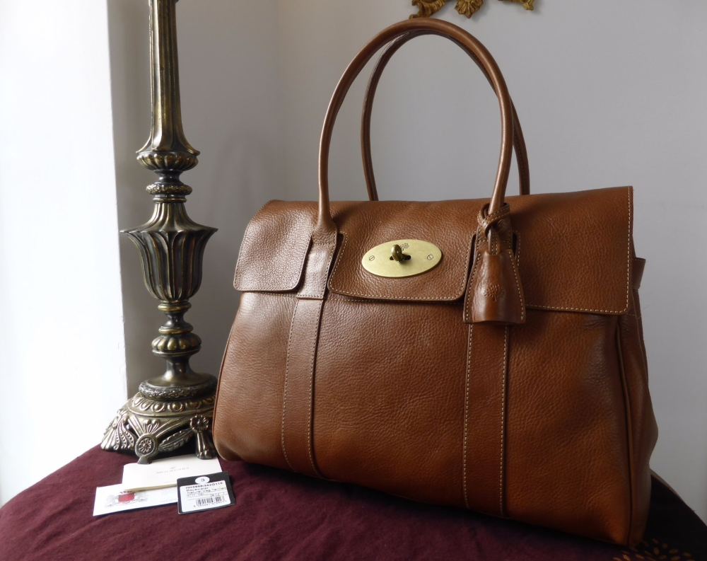 Mulberry Classic Heritage Bayswater in Oak Natural Leather with Brass Hardw