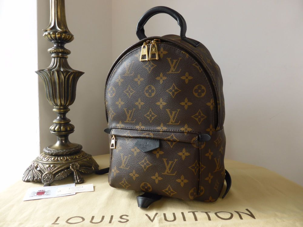 Louis Vuitton Palm Springs PM Backpack in Monogram Black - As New