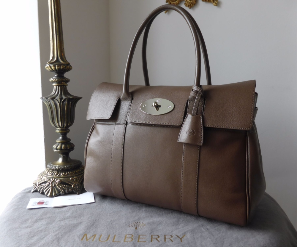 7ff48a0456 Mulberry Classic Bayswater in Taupe Shiny Goat - SOLD