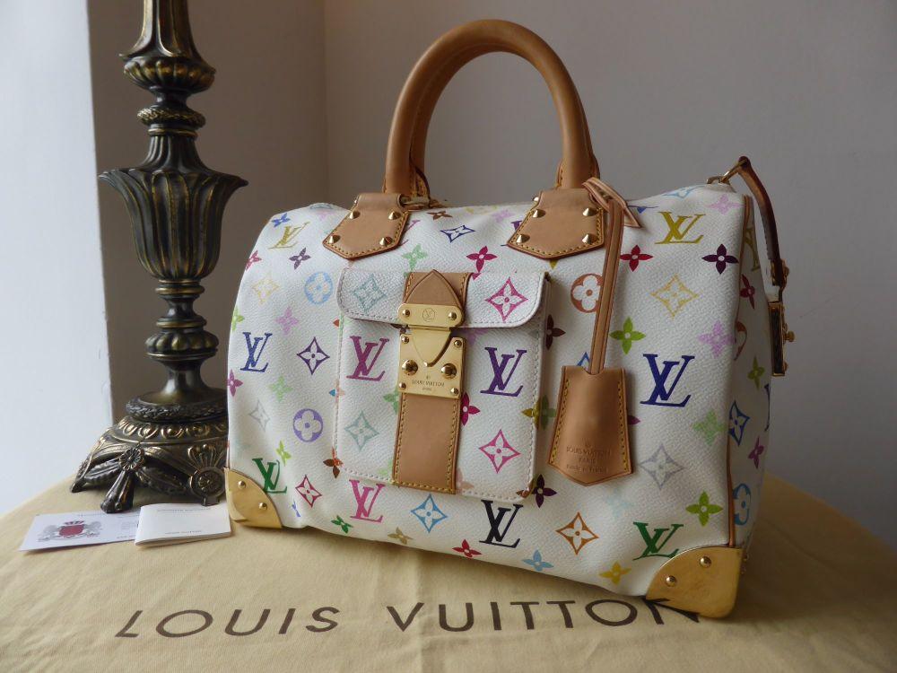 Louis Vuitton Speedy 30 in White MulticoloreMonogram