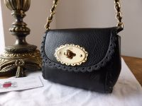 Mulberry Mini Cookie Bag in Black Soft Matte Leather