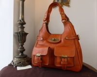 Mulberry Annie Shoulder Bag in Ginger Darwin Leather